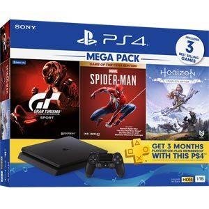 Sony PlayStation 4 Slim เครื่องเกมคอนโซล PS4 Slim 1TB (Mega Pack)