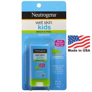 Neutrogena,Wet Skin Kids, Beach & Pool Stick Sunscreen, SPF 70+