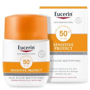 ครีมกันแดดยูเซอริน Eucerin Sun Protection Sensitive Protect Fluid Mattifying SPF 50+