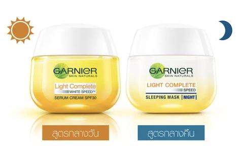 [การ์นิเย่] Garnier: Light Complete White Speed Day Serum Cream SPF30 PA+++ และ Light Complete White Speed Night Yohgurt Sleeping Mask
