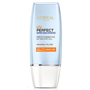 L'OREAL PARIS ครีมกันแดด UV Perfect Super Aqua Essence Long UVA SPF 50+/PA++++