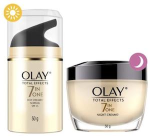 [โอเลย์] OLAY Total Effects Normal Day Cream SPF15 และ Total Effects Night Cream  ช่วยลดเลือนริ้วรอยแห่งวัยทั้ง 7 ประการ