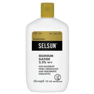 selsun selenium sulfide 2.5 เซลซั่นแชมพูสระผม ลดการคันหนังศีรษะ