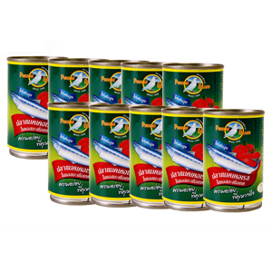 นกพิราบ ปลาแมคเคอเรลในซอสมะเขือเทศ