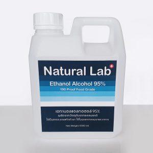 เอทานอล(เอทิล)แอลกอฮอล์ 95% -(Food Grade) Natural Lab 1000ml.