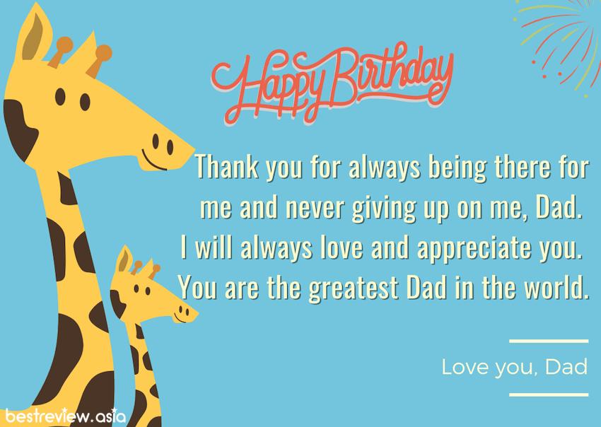 Happy birthday Love you, Dad