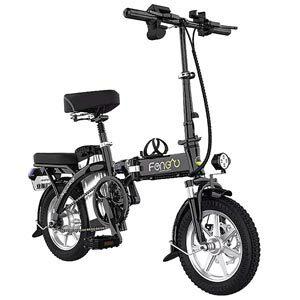 JIESUQI จักรยานไฟฟ้าพับได้ 14 นิ้ว