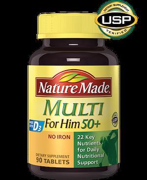 Nature Made Multi For Him 50+ วิตามินรวมสำหรับผู้ชาย 50 ปีขึ้นไป