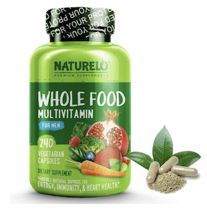 NATURELO Whole Food Multivitamin วิตามินรวมสำหรับผู้ชายทานมังสวิรัติ