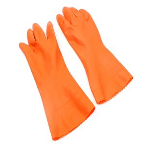 Telecorsa ถุงมือยาง สีส้ม