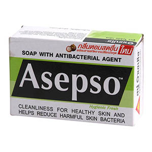 Asepso สบู่ก้อน สูตรไฮจินิคเฟรช
