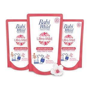 BabiMild ผลิตภัณฑ์ซักผ้าเด็ก Ultra Mild สูตรไวท์ซากุระ