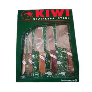 KIWI มีดสแตนเลสทำครัว ด้ามไม้ 5 เล่ม