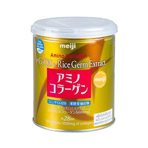 Meiji Amino Collagen CoQ10 & Rice Germ Extract ผงคอลลาเจนกระป๋องทอง จากญี่ปุ่น