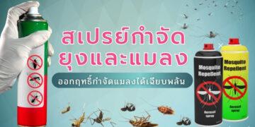 รีวิว สเปรย์กำจัดยุงและแมลง ยี่ห้อไหนดีที่สุดปี 2021
