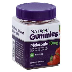 อาหารเสริมเมลาโทนิน Natrol Melatonin Gummies Strawberry