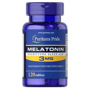 อาหารเสริมเมลาโทนิน Puritan's Pride Melatonin Nighttime Sleep Aid