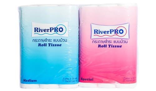 RiverPro Special กระดาษทิชชู่ม้วนเล็ก 24 ม้วน
