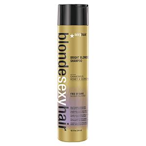 Sexyhair (เซ็กซี่ แฮร์) Sulfate Free Bright Blonde Shampoo แชมพูสีม่วงสูตรเข้มข้น