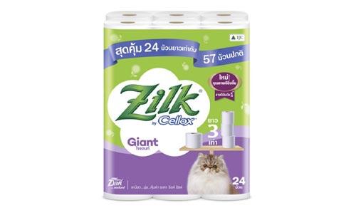 Zilk Giant Toilet Tissue กระดาษทิชชูม้วน หนา 2 ชั้น 24 ม้วน