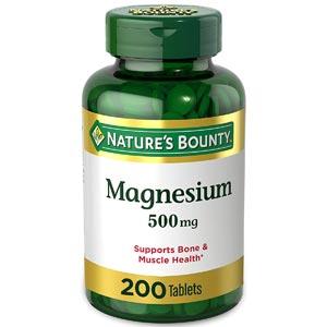 อาหารเสริมแมกนีเซียม Nature's Bounty Magnesium