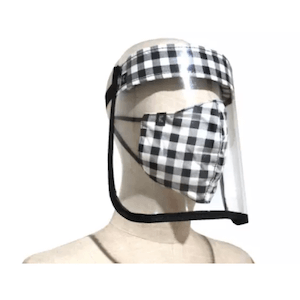 หน้ากากผ้าลายผ้าขาวม้า + Face Shield 1 เซ็ต