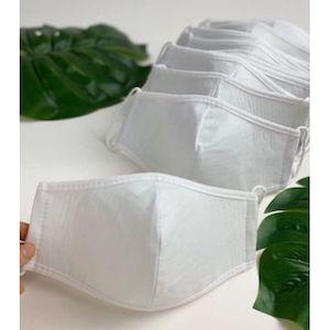 หน้ากากผ้า ผ้ามัสลิน-โพลี-ผ้าสปันบอนด์กันน้ำ 3 ชั้น