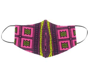 SAAMU หน้ากากผ้าคอตตอน + ฟิลเตอร์กันฝุ่น PM2.5 ลาย Stool สีชมพู
