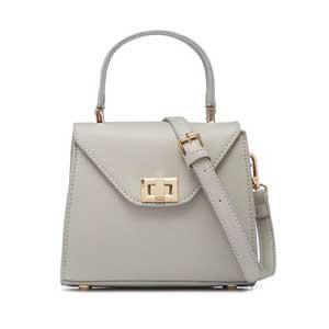 LUNA กระเป๋าถือ รุ่น MM012 สีเทา