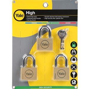 YALE กุญแจคีย์อะไลท์ 3 ตัวต่อชุด รุ่น BD45P3