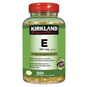 วิตามินอี Kirkland Signature Vitamin E 400 I U