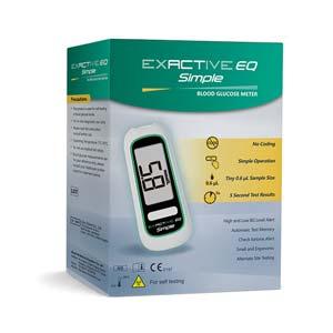 เครื่องตรวจวัดน้ำตาลในเลือด EXACTIVE EQ SIMPLE BLOOD GLUCOSE METER