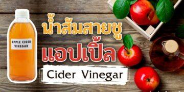 รีวิว น้ำส้มสายชูแอปเปิ้ล Cider Vinegar ที่ดีที่สุด