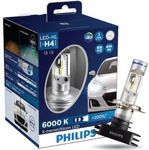 PHILIPS หลอดไฟหน้ารถยนต์ X-treme Ultinon LED 6000K +200% สว่างคมชัด