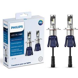 PHILIPS Ultinon Essential LED 6000K หลอดไฟหน้ารถยนต์ มีหลายขั้ว