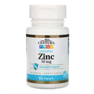 อาหารเสริมซิงค์ 21st Century Zinc Chelated