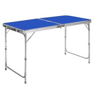 โต๊ะปิกนิกอลูมิเนียมพับได้ พร้อมเก้าอี้พับ 4 ตัว