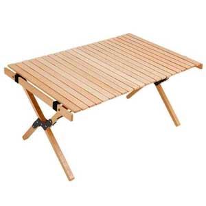 โต๊ะไม้บีช โต๊ะแคมป์ปิ้ง พับเก็บได้