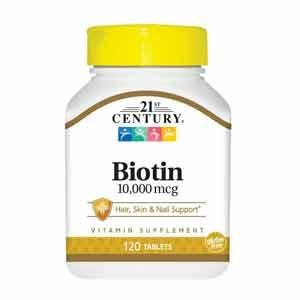 21st Century Biotin อาหารเสริมไบโอติน บำรุงผมและเล็บ
