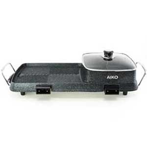 AIKO เตาปิ้งย่าง กระทะย่างไฟฟ้า BBQ พร้อมหม้อชาบู 2 ช่อง รุ่น BL-K6230