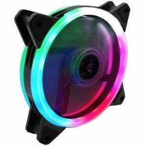 พัดลมคอมฯ ไฟสี RGB Coolmoon รุ่น Double Aperture