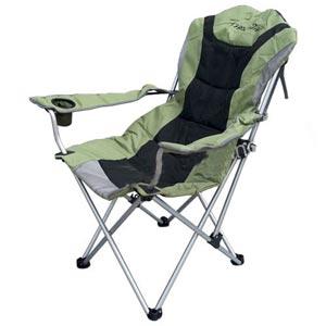 FIELD&CAMP เก้าอี้สนามเดินป่าอย่างดี รับน้ำหนักได้เยอะ ปรับระดับได้ มีที่วางแก้ว King Size
