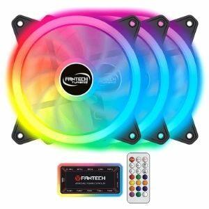 พัดลมเคส พร้อมรีโมทคอนโทล Fantech LED Fan Case Turbine รุ่น FB301