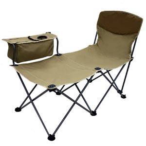 Grand Sport เก้าอี้นอนพับได้ แบบรวบ พร้อมคลูเลอร์เก็บความเย็นและที่วางแก้ว รุ่น Grand Adventure GA