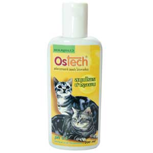 Ostech Cat Herbal แชมพูแมว สูตรสมุนไพร