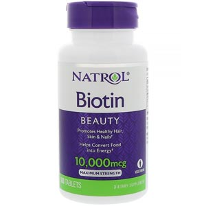 Natrol Biotin อาหารเสริมไบโอติน