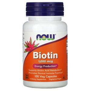 อาหารเสริมไบโอติน Now Foods Biotin