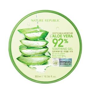 เจลว่านหางจระเข้ Nature Republic Aloe Vera 92% Moisture Soothing Gel