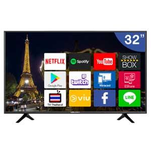ทีวีจอแบน Worldtech Android TV ขนาด 32 นิ้ว