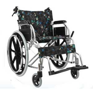 รถเข็นผู้ป่วย Wheelchair วีลแชร์ อลูมิเนียมอัลลอย พับได้ รุ่น YA868L
